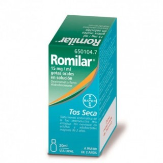 ROMILAR 15 mg/ml GOTAS ORALES EN SOLUCION 1 FRASCO 20 ml