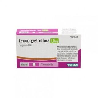 LEVONORGESTREL TEVA EFG 1,5 mg 1 COMPRIMIDO