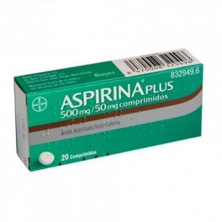 ASPIRINA PLUS 500 mg/50 mg 20 COMPRIMIDOS