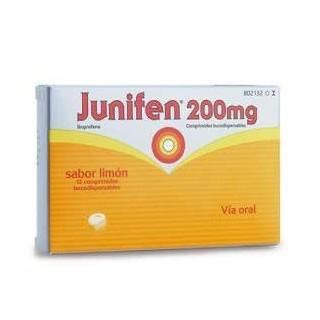 JUNIFEN 200 mg 12 COMPRIMIDOS BUCODISPERSABLES (SABOR LIMON)