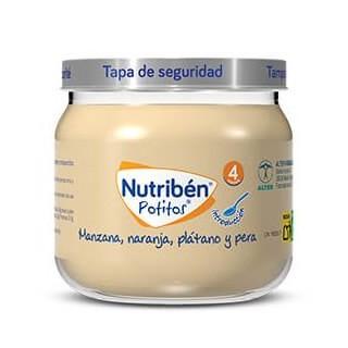 NUTRIBEN POTITO INICIO A LA MANZANA, NARANJA, PLATANO Y PERA 120 G