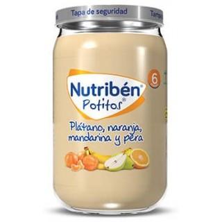 NUTRIBEN POTITO PLATANO, NARANJA, MANDARINA Y PERA 235 G