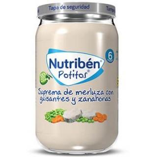 NUTRIBEN POTITO SUPREMA DE MERLUZA CON GUISANTES Y ZANAHORIAS 235 G