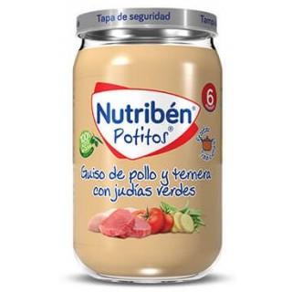 NUTRIBEN POTITO GUISO DE POLLO Y TERNERA CON JUDIAS VERDES 235 G