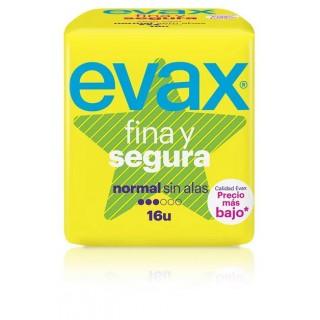 EVAX FINA Y SEGURA NORMAL SIN ALAS 16 U