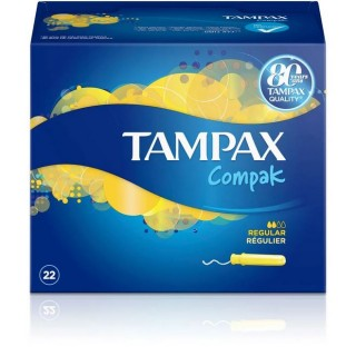 TAMPAX COMPAK REGULAR 22 TAMPONES FRESH