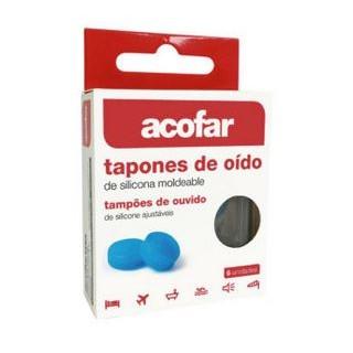 ACOFAR TAPONES SILICONA MOLDEABLE OIDOS 6 U