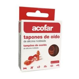 ACOFAR TAPONES OIDOS SILICONA MOLDEADA 2 U