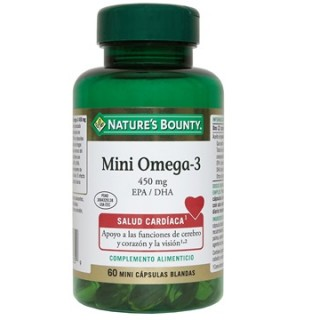 NATURES BOUNTY MINI OMEGA 3 60 CAPSULAS