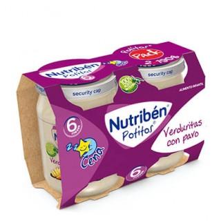 NUTRIBEN POTITO CENA VERDURITAS CON PAVO 2 X 190 G