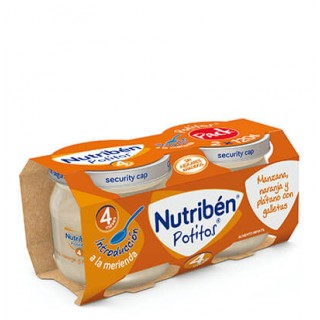 NUTRIBEN POTITO INTRODUCCION MANZANA, NARANJA Y PLATANO CON GALLETA 2 X 120 G
