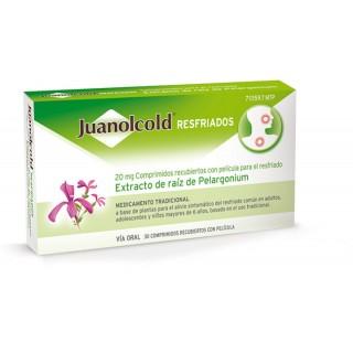 JUANOLCOLD RESFRIADOS 20 MG 30 COMPRIMIDOS RECUBIERTOS
