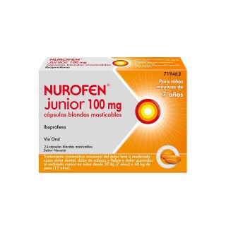 NUROFEN JUNIOR 100 MG 24 CAPSULAS BLANDAS MASTICABLES