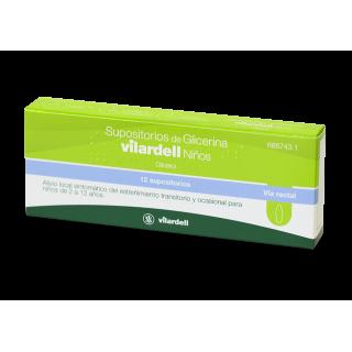 SUPOSITORIOS DE GLICERINA VILARDELL NIÑOS 1,58 g 12 SUPOSITORIOS (BLISTER)
