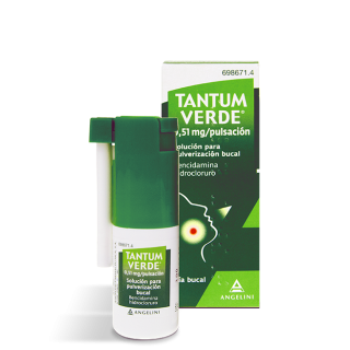 TANTUM VERDE 0,51 mg/PULSACION SOLUCION PARA PULVERIZACION BUCAL 1 FRASCO 15 ml