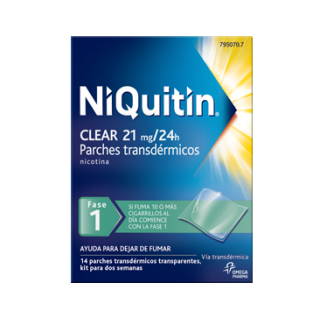 NIQUITIN CLEAR 21 MG/24 H 14 PARCHES TRANSDERMICOS 114 MG