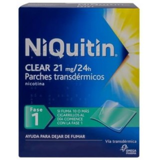 NIQUITIN CLEAR 21 MG/24 H 28 PARCHES TRANSDERMICOS 114 MG