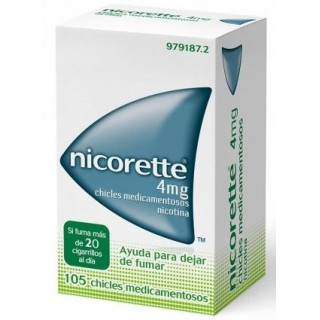 NICORETTE 4 mg 105 CHICLES MEDICAMENTOSOS
