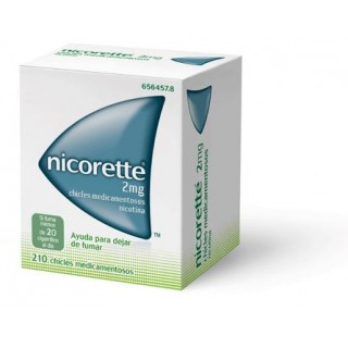NICORETTE 2 mg 210 CHICLES MEDICAMENTOSOS