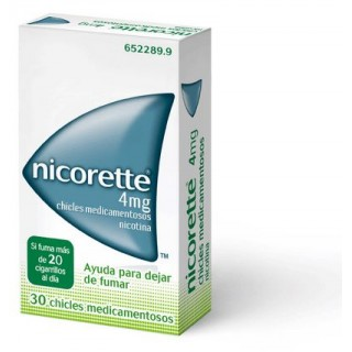 NICORETTE 4 mg 30 CHICLES MEDICAMENTOSOS