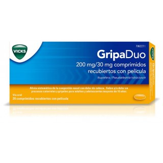 GRIPADUO 200 mg/30 mg 20 COMPRIMIDOS RECUBIERTOS