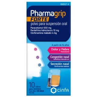 PHARMAGRIP FORTE 10 SOBRES POLVO PARA SUSPENSION ORAL