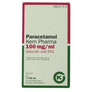 PARACETAMOL KERN PHARMA EFG 100 mg/ml SOLUCION ORAL 1 FRASCO 60 ml