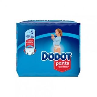 DODOT PANTS TALLA 5 (12-17 KG) 31 UNIDADES