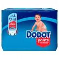 DODOT PANTS TALLA 4 (9-15 KG) 34 UNIDADES