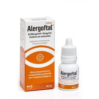 ALERGOFTAL 0,25 mg/ml + 5 mg/ml COLIRIO EN SOLUCION 1 FRASCO 10 ml