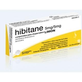 HIBITANE 5 mg/5 mg 20 COMPRIMIDOS PARA CHUPAR (SABOR LIMON)