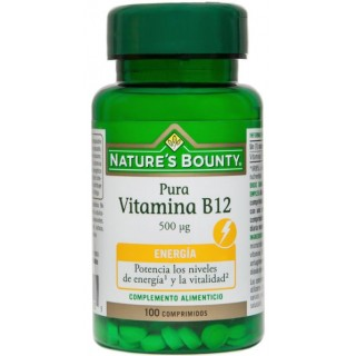 NATURES BOUNTY VITAMINA B12 500MCG 100 COMPRIMIDOS
