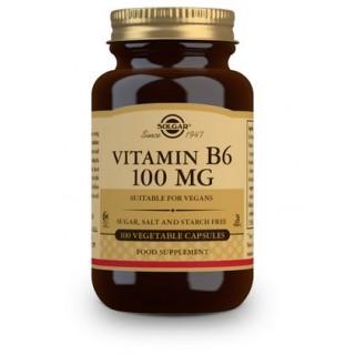 SOLGAR VITAMINA B6 (PIRIDOXINA) 100MG 100 CAPSULAS VEGETALES