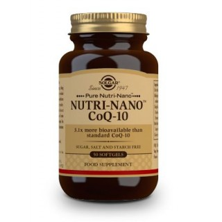 SOLGAR NUTRI-NANO COENZIMA Q10 - 50 CAPSULAS BLANDAS