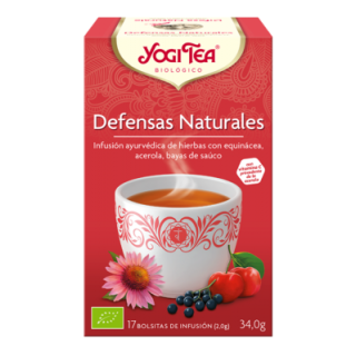 YOGI TEA BIOLOGICO DEFENSAS NATURALES 17 BOLSITAS