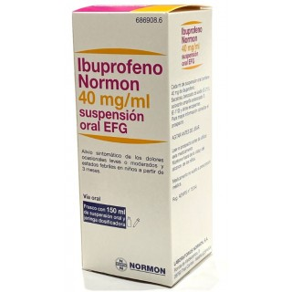 IBUPROFENO NORMON EFG 40 mg/ml SUSPENSION ORAL 1 FRASCO 150 ml