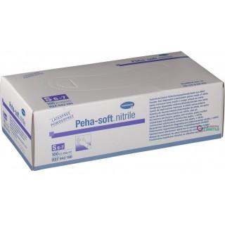PEHA SOFT GUANTES NITRILO FINO  AZULES TALLA S 100 U