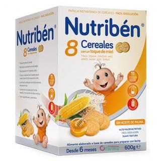 NUTRIBEN 8 CEREALES CON UN TOQUE DE MIEL MIEL GALLETAS MARIA 600 G