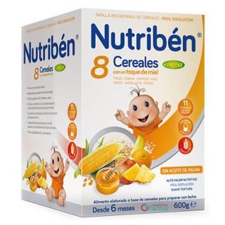 NUTRIBEN 8 CEREALES CON UN TOQUE DE MIEL 4 FRUTAS 600 G