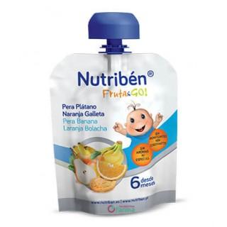 NUTRIBEN FRUTA & GO PERA,PLATANO, NARANJA Y GALLETA 90 G