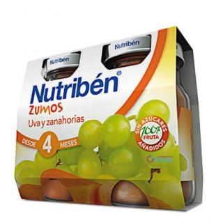 NUTRIBEN ZUMO UVA Y ZANAHORIAS 2 X 130 ML