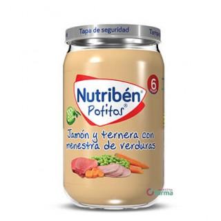NUTRIBEN POTITO JAMON Y TERNERA CON MENESTRA DE VERDURAS 235 G