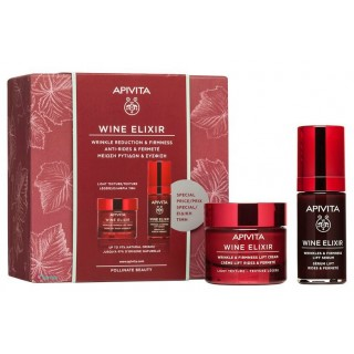 APIVITA PACK CREMA DIA WINE ELIXIR LIGHT TEXTURE 50ML+ SERUM WINE ELIXIR 30 ML REGALO