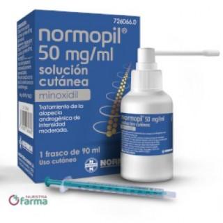 NORMOPIL 50 MG/ML 1 FRASCO SOLUCION CUTANEA 90 ML