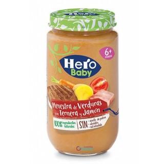 HERO BABY MENESTRA DE VERDURAS CON TERNERA Y JAMON 235 G