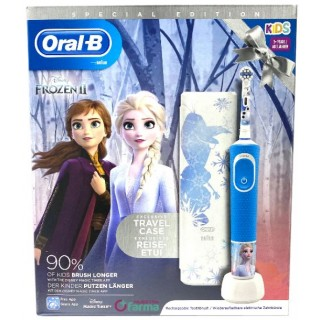 CEPILLO DENTAL ELECTRICO RECARGABLE INFANTIL ORAL-B KIDS FROZEN II CON ESTUCHE DE VIAJE