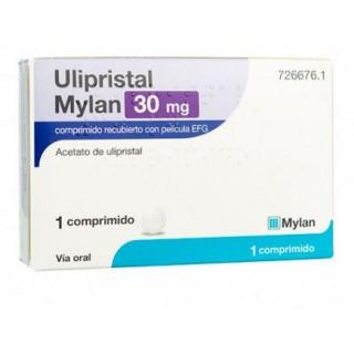 ULIPRISTAL MYLAN EFG 30 mg 1 COMPRIMIDO RECUBIERTO