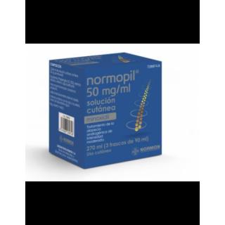 NORMOPIL 50 mg/ml 3 FRASCOS SOLUCION CUTANEA 90 ml